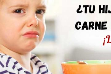 niños que no comen carne